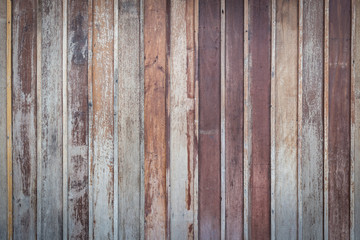 Wooden wall for texture and background