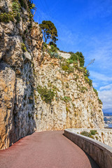 Mountain road, Monaco and Monte Carlo principality