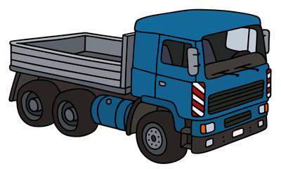 Blue truck / Hand drawing, vector illustration