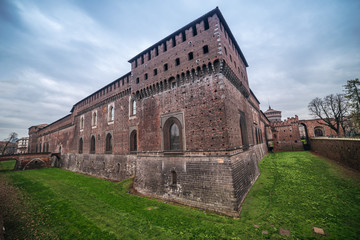 Wall Mural - Milan, Italy: Sforza Castle, Castello Sforzesco