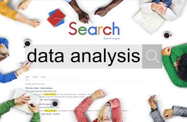 Data Analysis Center Digital Network Technology Concept