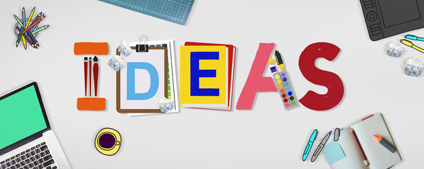 Ideas Creative Art Design Word Concept