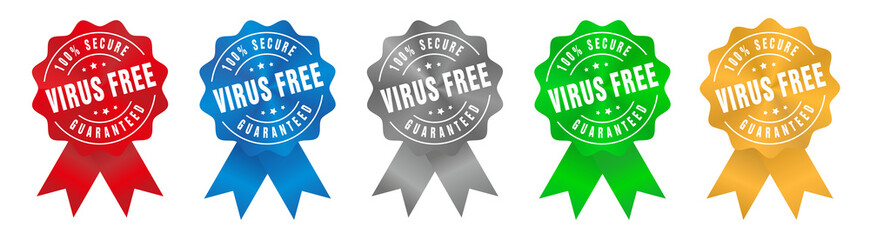Vector 100% Secure Virus Free Guaranteed Ribbon