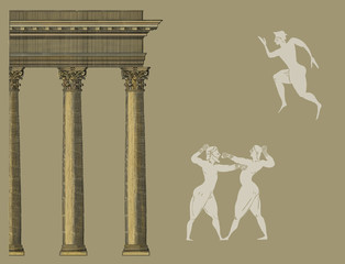 Old greek sports illustration