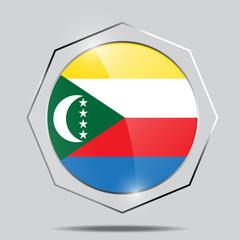 Button Flag of the Comoros