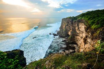 High Cliff at Uluwatu Temple, Bali, Indonesia