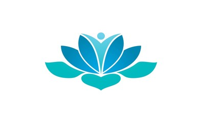 lotus flower meditation logo