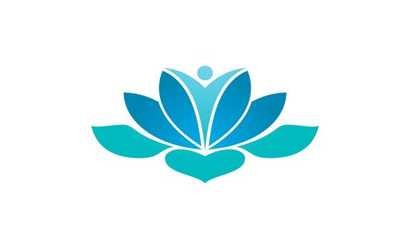 lotus flower meditation logo