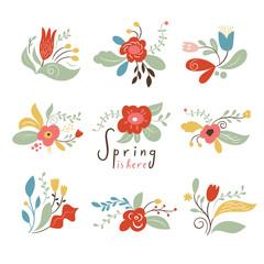 Floral Set, Spring Illustrations