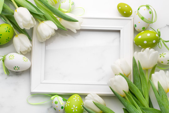 Tulip with blank picture frame