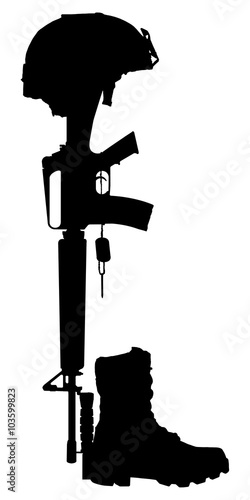 Quot Silhouette Of The Cross Of The Fallen Soldier Isolated On