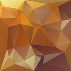 Polygonal mosaic background in orange and yellow colors.