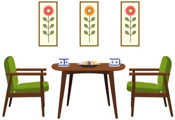 テーブルセット(北欧02)