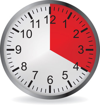 Clock with red 20 minute deadline