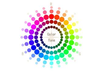 イラスト素材「色相環」