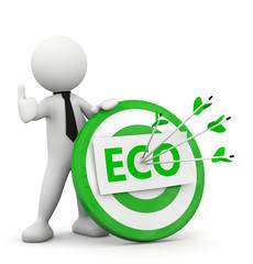 omino 3d obbiettivo centrato Eco