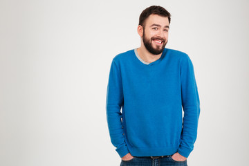 Smiling casual man