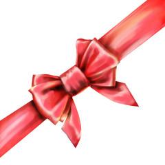 pink bow ribbon gift