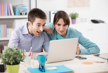 Couple enjoying internet services
