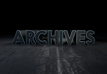 Archives, 3D Typography