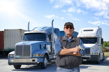 Serious truck driver