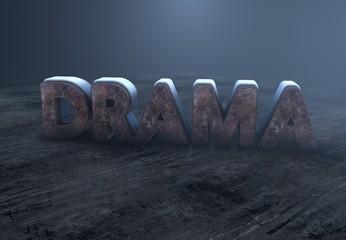 Drama, 3D Typography