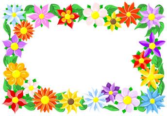 Blumen Umrandung