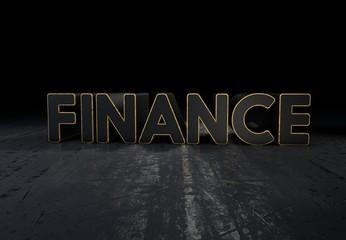 Finance, 3D Typography