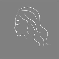 Woman sketch silhouette