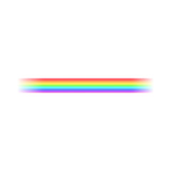Bright rainbow stripes icon, realistic style