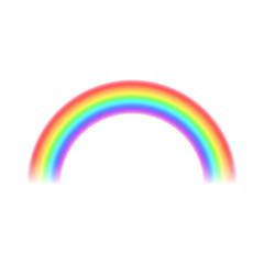 Rainbow icon, realistic style