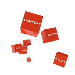 CONCEPT word on colored cubes, creative business concept