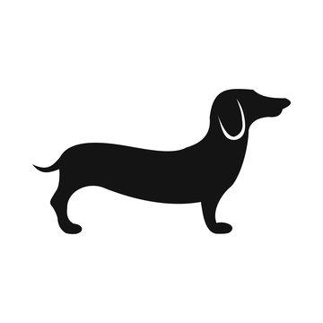German shepherd icon, simple style