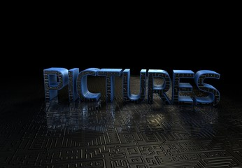 Pictures, 3D Typography