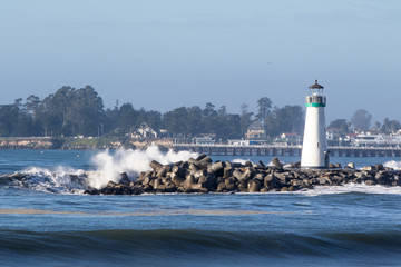 Lighthouse and Ocean Waves