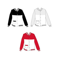 Baseball Jacket Design Vector Illustration