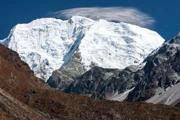 Fototapete - View of Mt. Shishapangma from Langtang Valley, Himalayas, Nepal