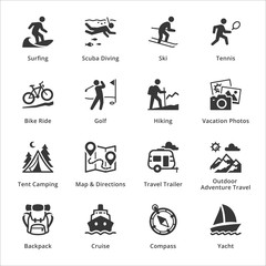 Tourism & Travel Icons - Set 4