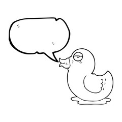 speech bubble cartoon rubber duck