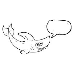 speech bubble cartoon shark