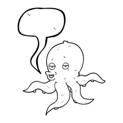 speech bubble cartoon octopus