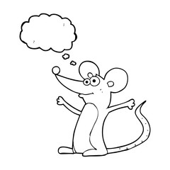 thought bubble cartoon mouse