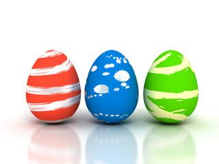 Easter Eggs on white - Stock image