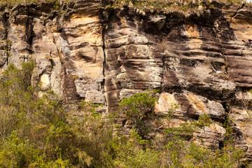 Quartzite cliff in Brazil