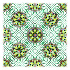 Vector seamless pattern background. Floral ornament. Seamless pattern. Vector drawing.