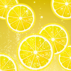 Lemonade with Slices Lemon