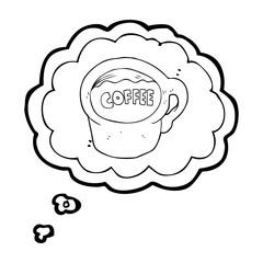 thought bubble cartoon coffee mug