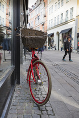 Printed roller blinds Bicycle Classic vintage retro city bicycle in Copenhagen, Denmark