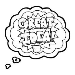 thought bubble cartoon GREAT IDEA! symbol
