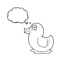 thought bubble cartoon rubber duck